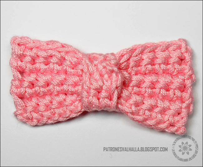 Moño a Crochet (foto-tutorial) - PATRONES VALHALLA: Patrones gratis ...
