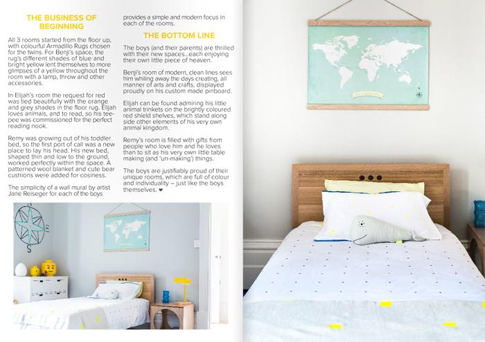 Boy's room created by Jacinda Malloy - Hidesleep in Mintymagazine - Australia