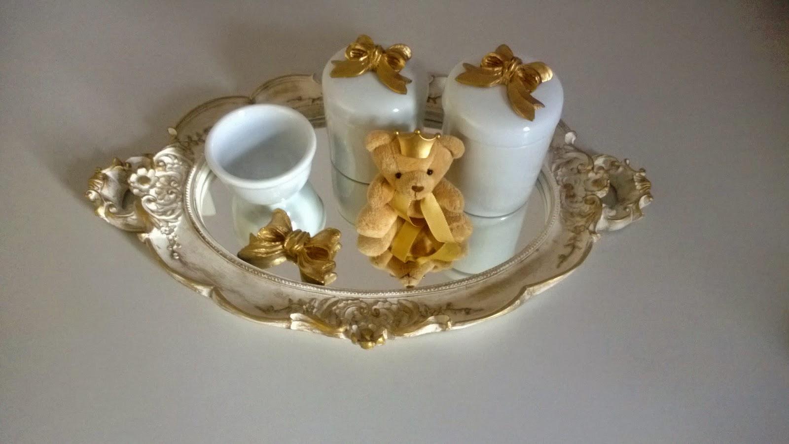 Aparador Negro Marron ~ Artesama Artesanato em MDF Kit higi u00eanico em bandeja de resina e com potes de porcelana I