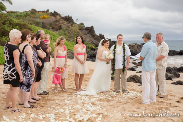 Maui beach wedding by Simple Maui Wedding