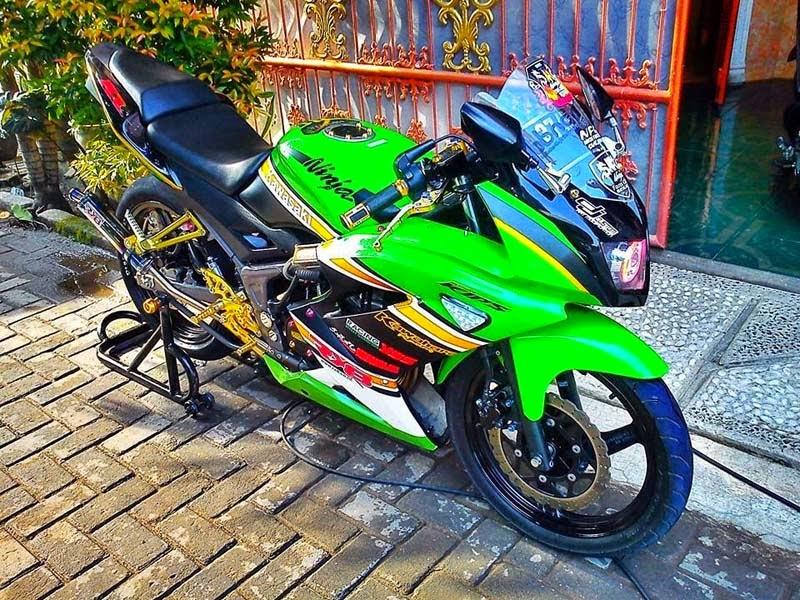 terbaru modifikasi motor ninja rr 2 tak