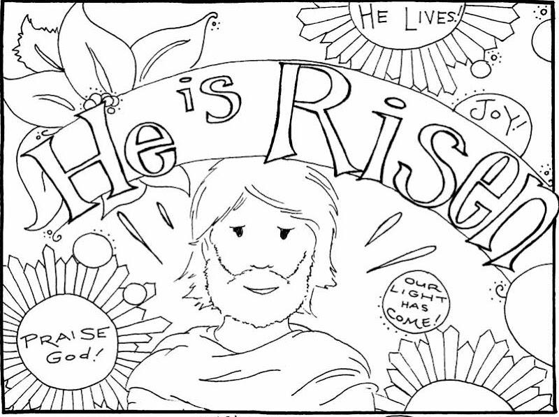 Jesus Has Risen Coloring Pages title=