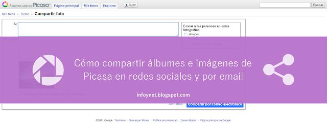 Cómo compartir álbumes e imágenes de Picasa en redes sociales y por email