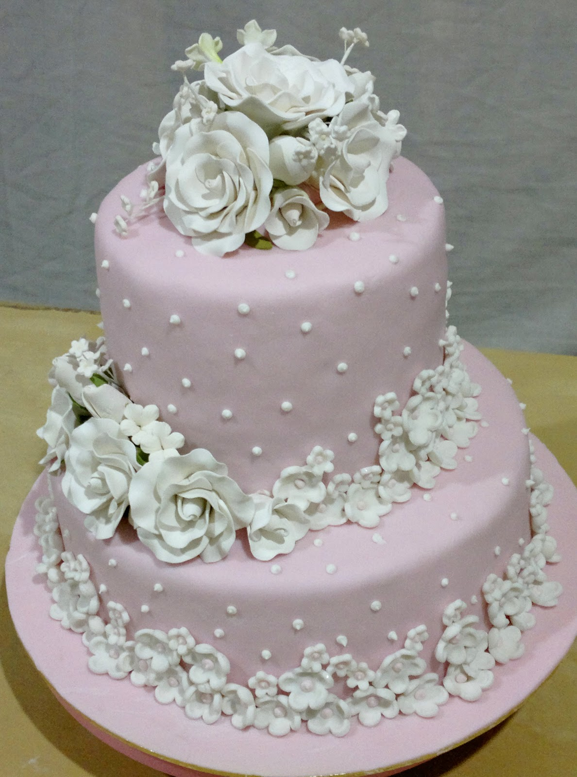 Pink And White Wedding Cakes Viewing Gallery