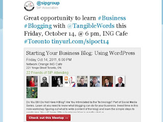 business blogging workshop Toronto, @SIPgroup