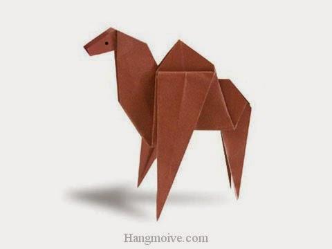 Cách gấp, xếp con lạc đà bằng giấy origami - Video hướng dẫn xếp hình - How to make a Camel