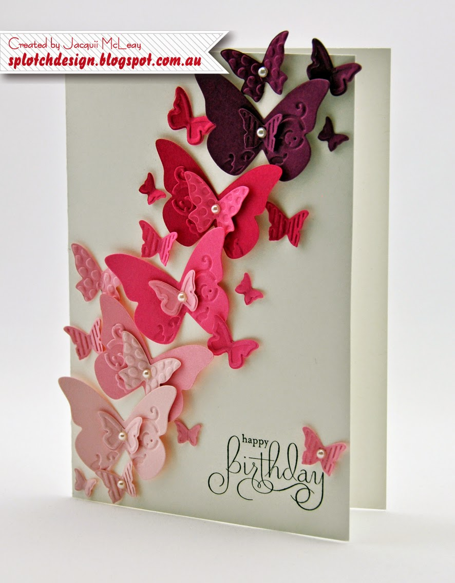 Splotch design independent stampin up demonstrator june 2014 these two cards were case from bronwyn eastley a nice clean and simple birthday card with a lot of wow factor kristyandbryce Gallery