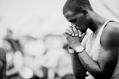 A man in prayer