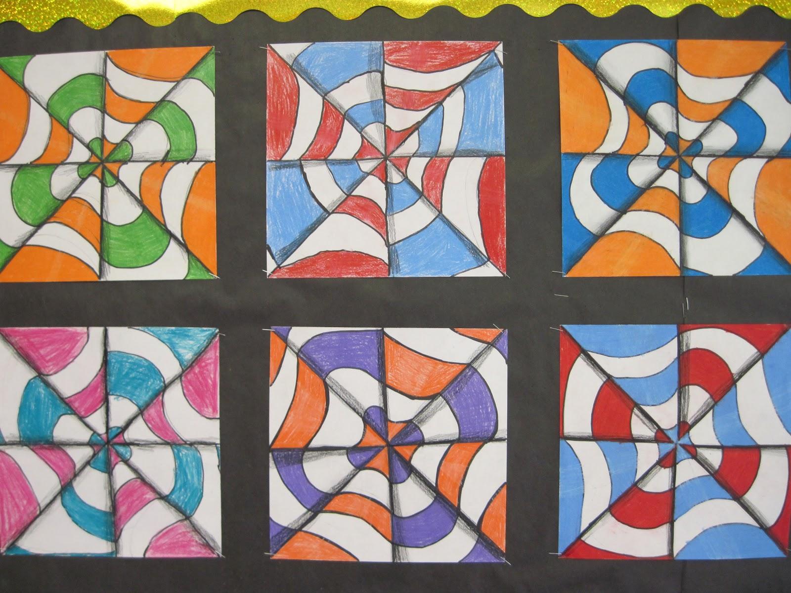 Optical Art Designs : Tesago art at shenendehowa c.s.d.: 4th grade op designs