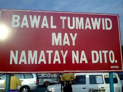 MMDA Sign Bawal Tumawid May Namatay na Dito