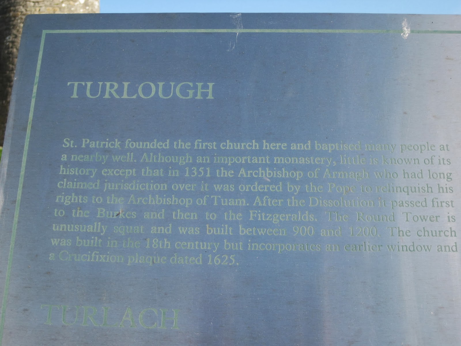Turlough burial ground, Turlough cemetery