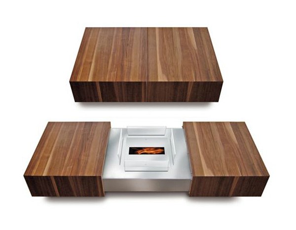 Modern Matchbox Coffee Table By Schulte Design Conceals Ethanol ...
