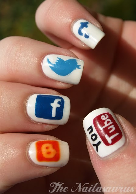 Logos That My Friends And I Often Do Are Facebook Twitteryou Got To Love Looking At Adorable Blue Bird Logo On Your Nails YouTube