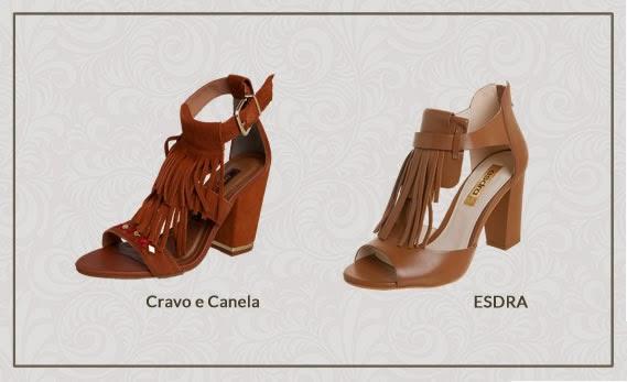Franjas em sapatos