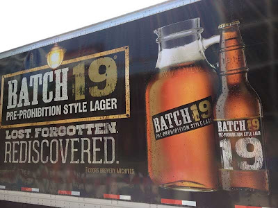 Beer truck with Batch 19 pre-Prohibition flavor ad