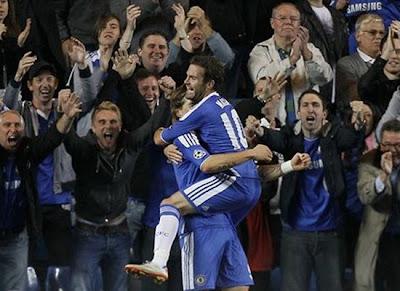 Juan Mata Chelsea Celebration 2011-2012