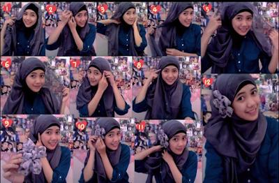 Cara Memakai Jilbab Paris