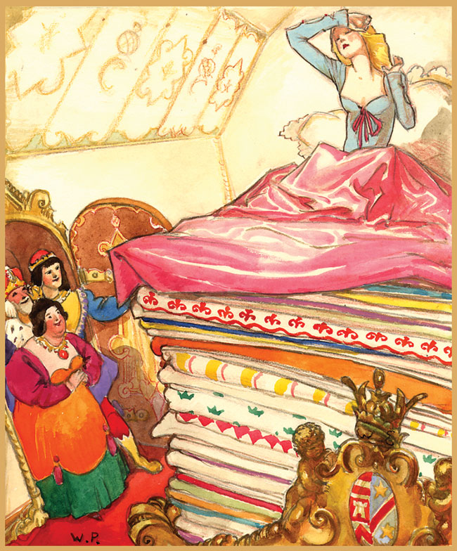 princess and the pea The princess and the pea is a literary fairy tale by hans christian andersen  about a young woman whose royal identity is established by a test of her physical .