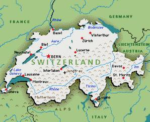 Switzerland Natural Resources Map - Germany map natural resources