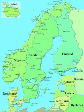 Scandinavia Countries Map