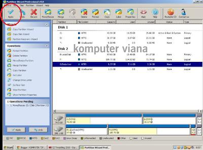 Cara Menambah / mengurangi size partisi di windows xp