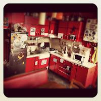 Interior Istanbul Hostel Kitchen