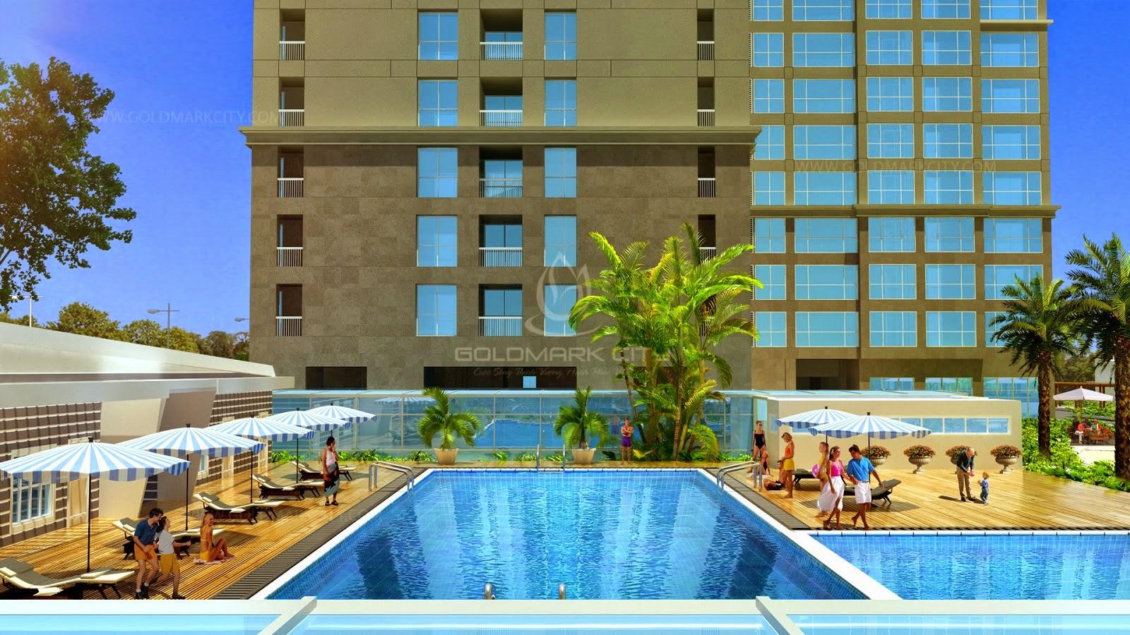 Bể bơi ngoài trời Goldmark City