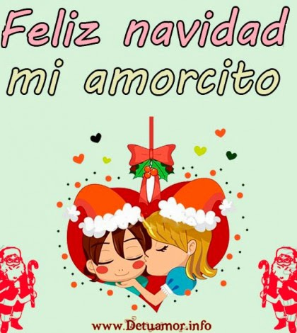 Feliz navidad mi amorcito imagenes de amor para navidad - Postales navidenas bonitas ...