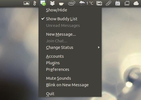 Pidgin Indicator Ubuntu