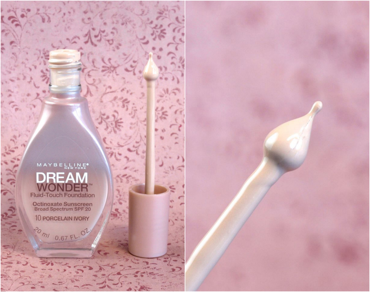 "Dream Wonder Fluid Foundation in ""10 Porcelain Ivory"": Review amd Swatches"