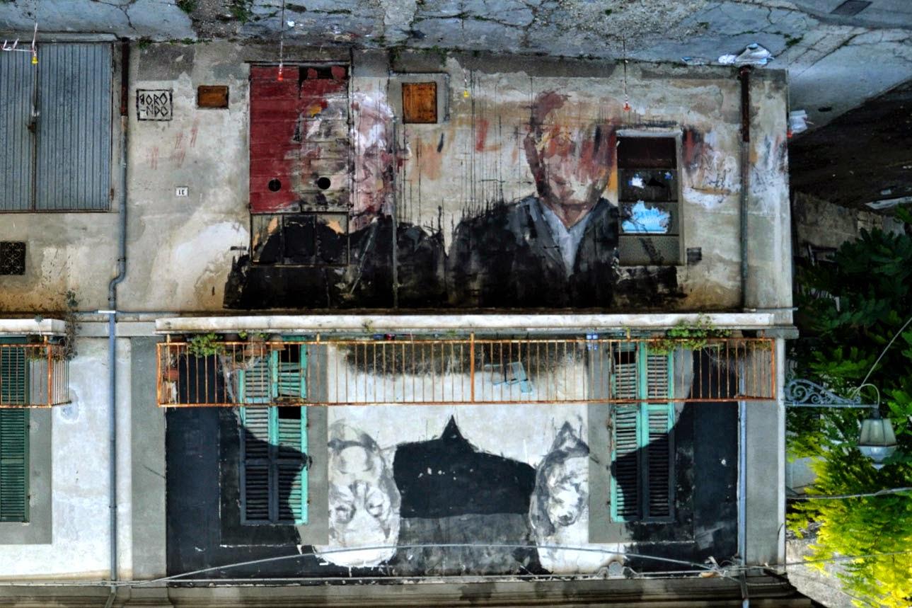 Borondo new mural for visione periferica mosciano sant for Europeo arredamenti mosciano sant angelo