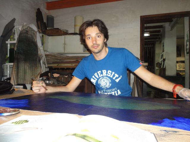 Pintant al taller 46 Barbarà