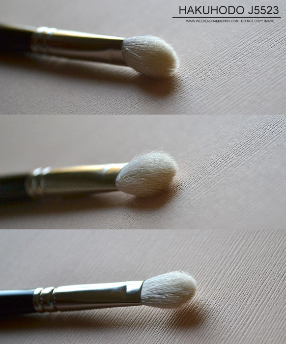 Hakuhodo J5523 Eyeshadow Makeup Blending White Goat Hair Brush Indian Beauty Blog Reviews Photos How to Use