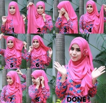 Hijab pesta simple