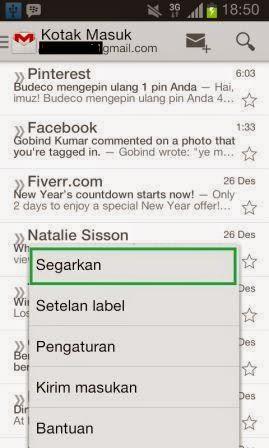 Cara Mengecek Email Masuk di HP Android