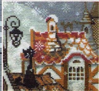 Вышивка бисером первый снег
