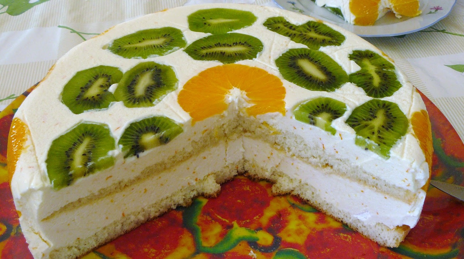 home made easy cakes Diplomat cake with fruits