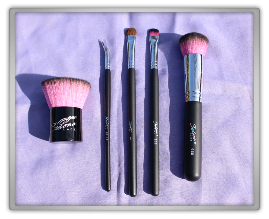Sedona Lace Brushes Makeup Haul review Flat Top Kabuki Brush Midnight Synthetic Round Top Eye Shading 480 305
