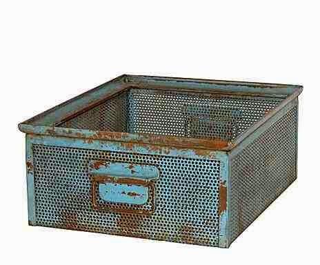 Industrialne ddatki i dekoracje, metalowa szuflada