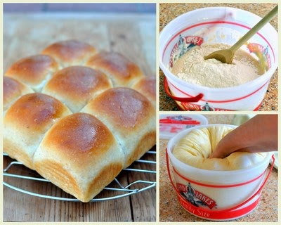 Homemade Yeast Rolls, my mom's recipe for homemade yeast rolls, therapeutic, healing with an ice cream pail for mixing, kneading and rising | Weight Watchers PointsPlus 4 | Kitchen Parade