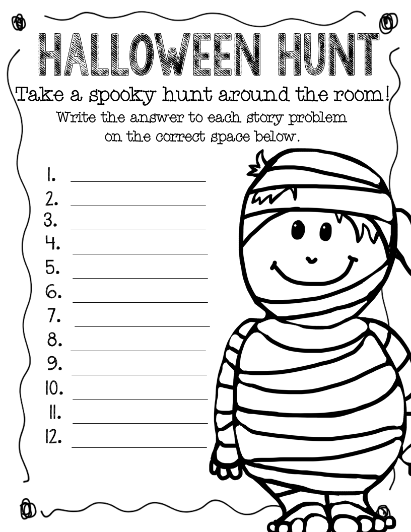 math worksheet : for his glory teaching october 2013 : 4th Grade Halloween Math Worksheets