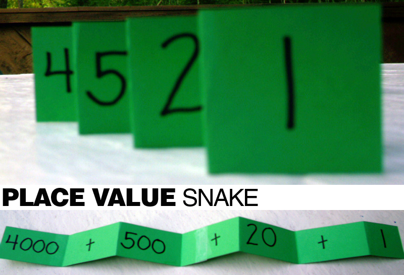 E Is For Explore Place Value Snake
