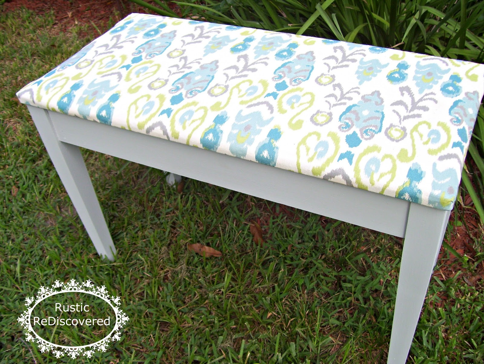 Rustic ReDiscovered: Piano Bench Makeover