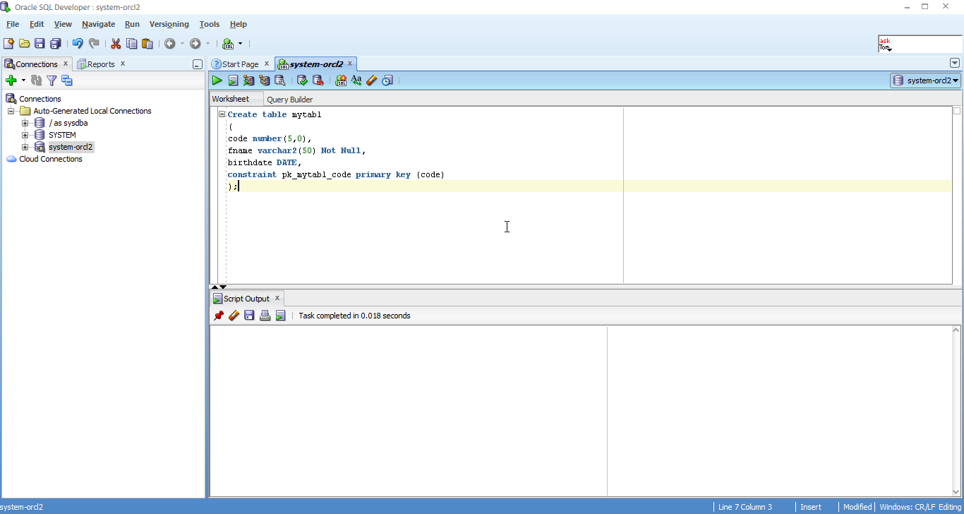 Oracle sql developer zzzleepinclass for Table design oracle