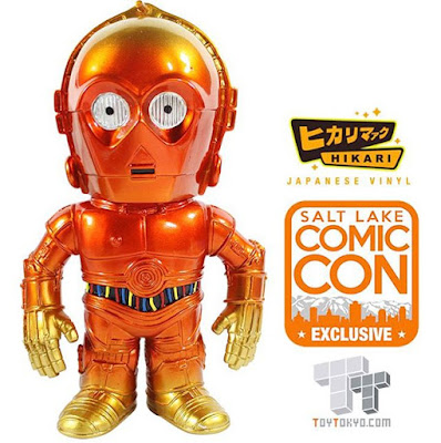 "Salt Lake Comic Con Exclusive 2015 Star Wars ""Orange Fade"" C-3PO Hikari Sofubi Vinyl Figures by Funko & Toy Tokyo"