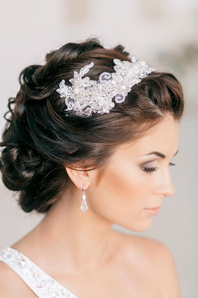 Свадебный прически на средний волос
