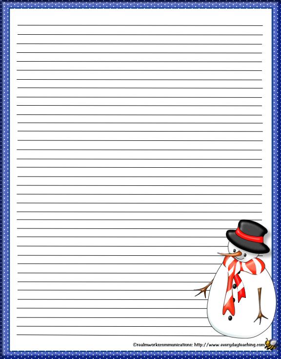 http://everydayteaching.com/Forms/Stationery/SnowmanStationery.pdf