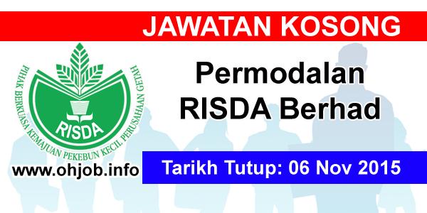 Jawatan Kerja Kosong Permodalan RISDA Berhad logo www.ohjob.info november 2015
