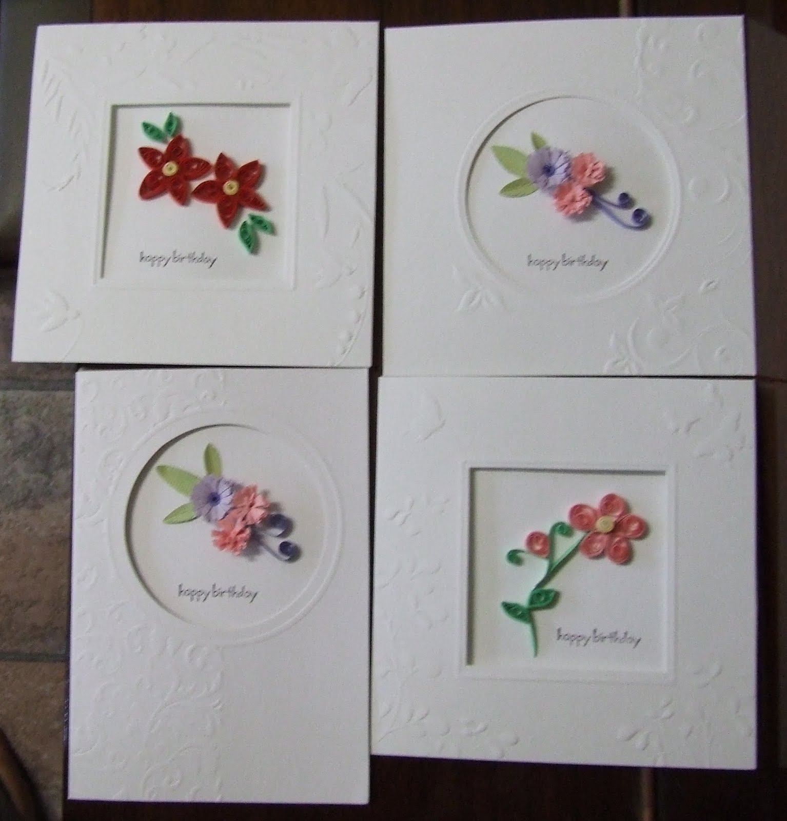 Quilling Flowers Card Ideas