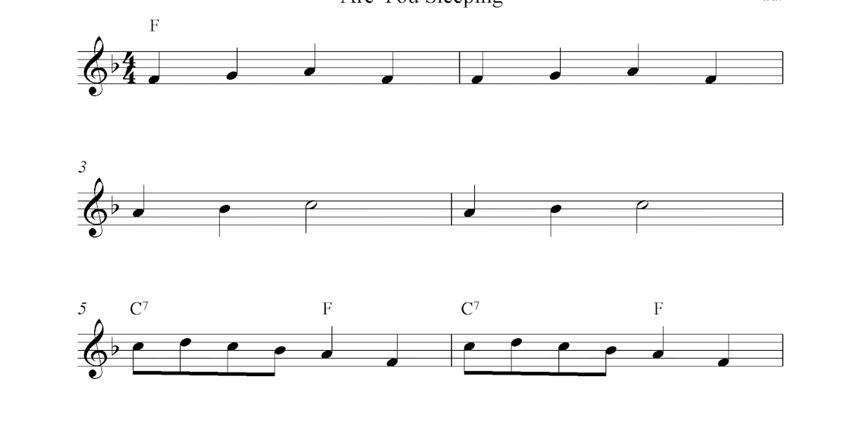 ... Jacques (Are You Sleeping) free soprano recorder sheet music notes